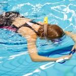 zwembad de dubbel snorkelen